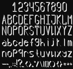 Volume font by knockout