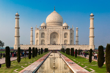 UNESCO World Heritage Site of Taj Mahal, Agra, Rajasthan, India Fotomurales