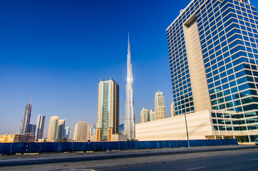 Buildings on Sheik Zayed road at Dubai
