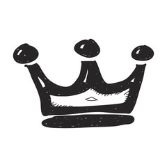 Simple doodle of a crown
