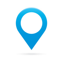 sky light blue map pointer icon marker GPS location flag symbol