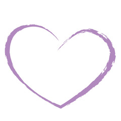 purple heart drawing love valentine