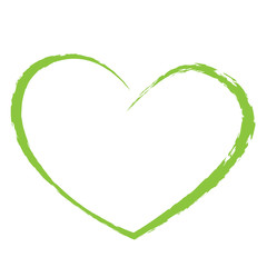 green heart drawing love valentine