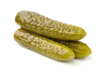 Three pickled cucumbers