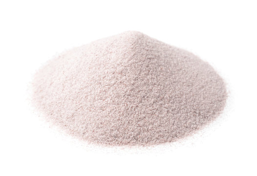 Pile of white silica sand