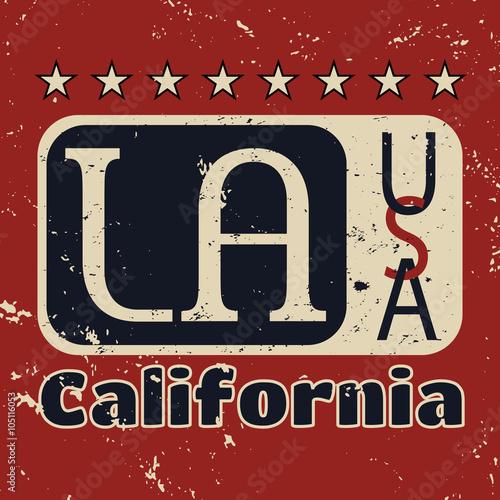 Los Angeles city Typography Graphic  Fashion stylish