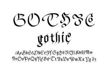 Modern Gothic Style Font. Gothic letters vector