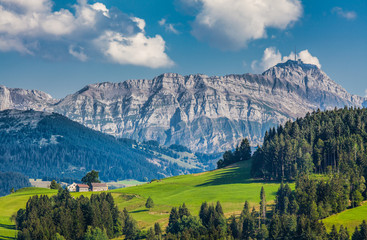 Wall Mural - Idyllic landscape in the Alps, Appenzellerland, Switzerland
