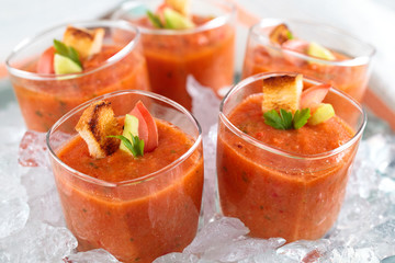 Fresh gazpacho soup.