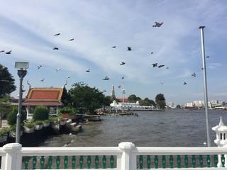 A pier at Chaopraya River, Bangkok, Thailand
