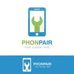 Vector logo of repair of phone