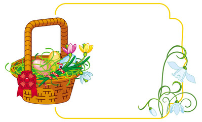 Color frame with Easter basket