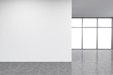 Wall in office, window