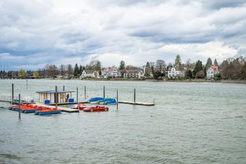 Lindau,An image of the beautiful Lake Constance