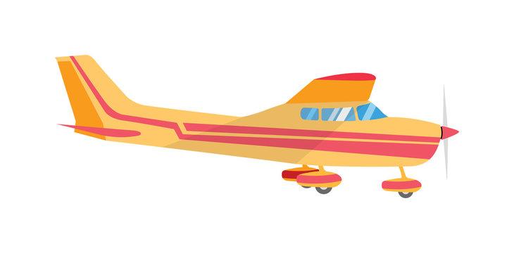 Light aircraft single propeller