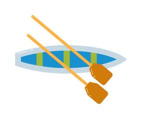 Rowing sports vector illustration.