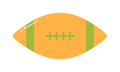 American football, rugby game sport equipment vector illustration.