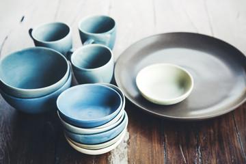 Handmade ceramic dishes