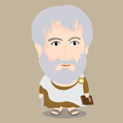 Vector illustration - Aristotle