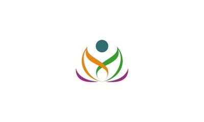 abstract lotus flower logo