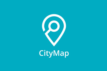 Map Point Location Logo. City locator design vector template. Pin maps symbol vector . Gps icon design vector. Simple clean design