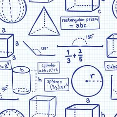 math formula seamless background