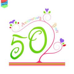 Flower Anniversary 50 Years
