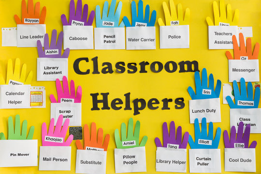 Classroom Helpers sign