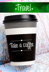 paper cup of coffee or tea