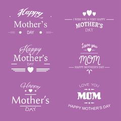 Happy mothers day. Set of badges.