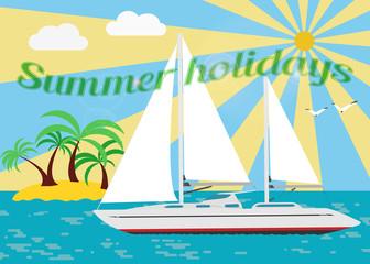 Sailing summer holidays