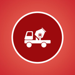 Cement Mixer Truck Icon