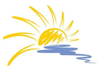 Logo of sun and sea.