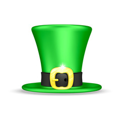 Green hat leprechaun isolated on a white background vector illustration for St Patrick's Day