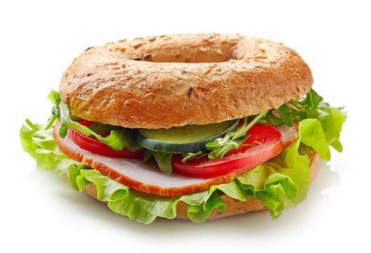 Fresh bagel sandwich