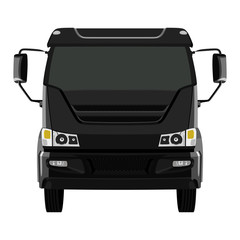 Front black truck