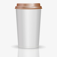 Coffee to go paper cup vector illustration