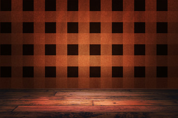 Orange Lumberjack Backdrop