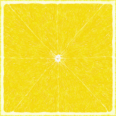 Big lemon texture background. Square fruit lime pattern. Citrus cut art. Lemon incision. Fresh summer texture citron surface.