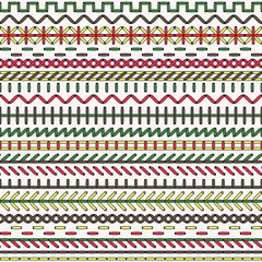 Vector stitch seamless pattern