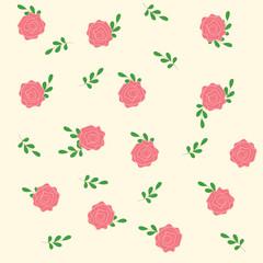 Seamless pink rose background