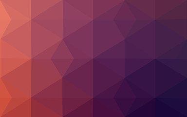 Multicolor dark pink, red, orange polygonal design pattern, which consist of triangles and gradient in origami style.