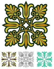 Abstract ornament inspired by ancient greek design, and sixties style.
