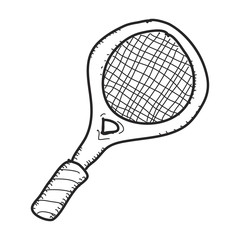 Simple doodle of a tennis racket