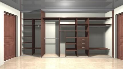 inner filling, 3D rendering  design large wardrobe