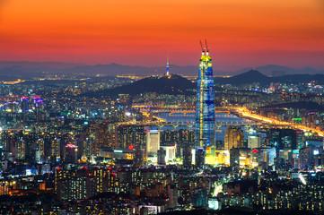 South Korea skyline of Seoul, The best view of South Korea with