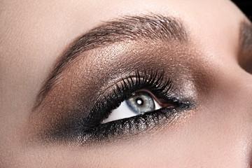 beautiful woman's eye close up macro