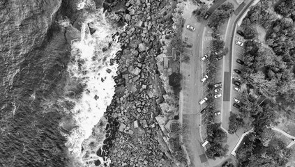 Aerial view of Shelly Beach coastline, Sydney - Australia