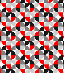 Vector pattern, repeating circle on square shape