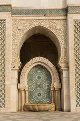 fountain of the Hassan II mosque in Casablance